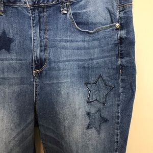 Seven7 Jeans - Seven7 Cropped Jeans with Stars